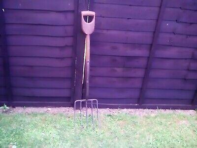 Vintage box Handle Brades 5 Tine garden Fork
