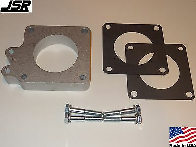 86-93 Mustang GT or LX 5.0 Throttle Body EGR Spacer Delete Plate Kit 1in X 70mm - Egr Spacer Plate