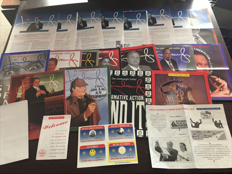 Rush Limbaugh Letter 1993, 1994, 1995 + Promotional Items