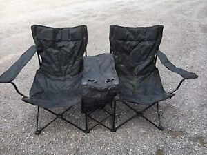 Double camping chairs