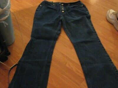Button-down-jeans (JUNIORS SIZE 13 JEANS LOW RISE BUTTON DOWN JEANS NO BOUNDARIES EUC)