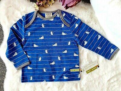 Loud+Proud Longsleeve T-Shirt Pinguine Baby Jungen Cobalt Gr:74/80