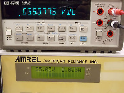 Amrel American Reliance Inc. Programmable Dc Power Supply Model Mps 35-10