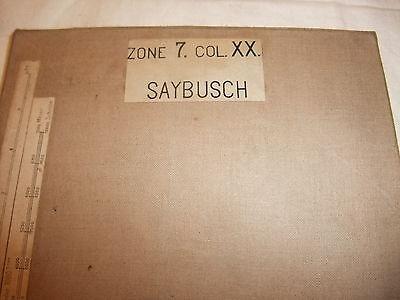 sehr alte historische Landkarte Karte Saybusch Zone 7 Col. XX Österreich Leinen