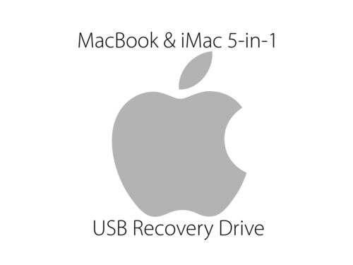 MacBook and iMac 5-in-1 USB Recovery Boot Drive Installer - All macOS in one