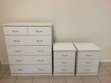 Tallboy Chest of Drawers and Bedside Tables Springwood Logan Area Preview