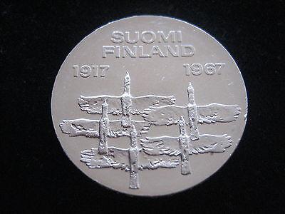 """MDS FINNLAND 10 MARKKAA 1967 """"UNABHÄNGIGKEIT"""", SILBER  #60"""