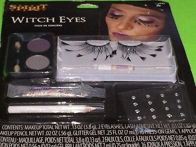 "Spirit Halloween SOLD OUT ""WITCH EYES"" Makeup & Lash 6 Piece Set *PARTY PERFECT*"