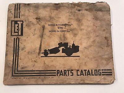 Letourneau Equipment Model D Tournapull With Model E4 Carryall Parts Catalog