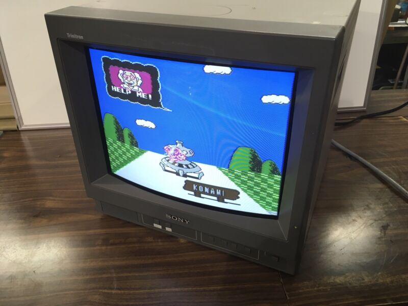 "Sony PVM-14N5U 14"" Vintage CRT Video Gaming Monitor Production Year 1999"