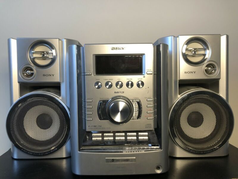 Sony CMT-HP7 Micro HiFi Component Stereo System 5 Disc CD Changer AM FM Cassette