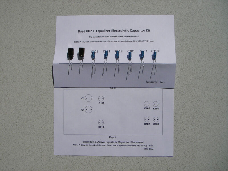 Bose 802E Equalizer Capacitor Replacement Kit