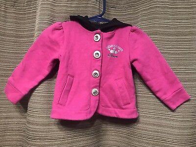 Harley-Davidson Princess Hot Pink With Black Hood Jacket Size 6/9 Month Biker - Hot Female Bikers