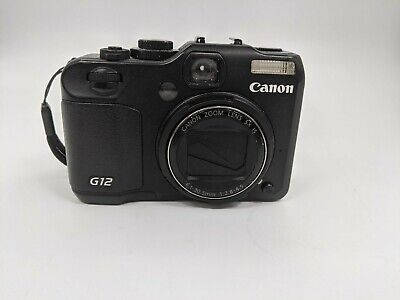 Good Canon PowerShot G12 Digital Camera, Black -LH0253