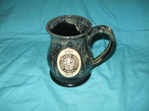 29th Sterling N.Y. Renaissance Festival  Mug Black/Cream Grey Fox Pottery