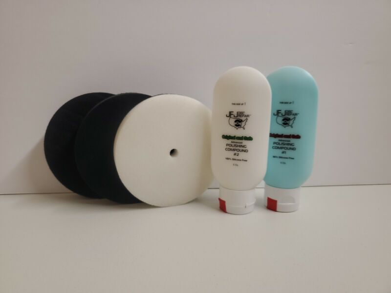 Official JFJ Easy Pro 5oz Solution + Buffer Pad Combo pack Same Day Shipping