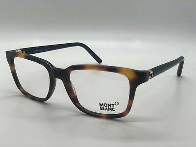 F 056 Havana//Clear Lens Eyeglasses Mont Blanc MB 0540