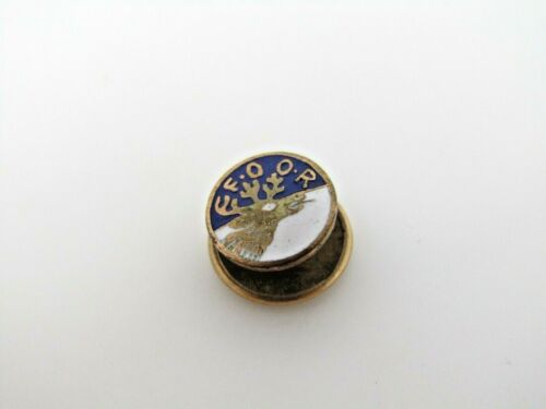 FOOR Reindeer Moose Pin Antique Screwback Small Design