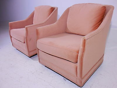 2 Classic Henredon Club Lounge Chairs 60's Mid 20th Century Modern Baughman Era