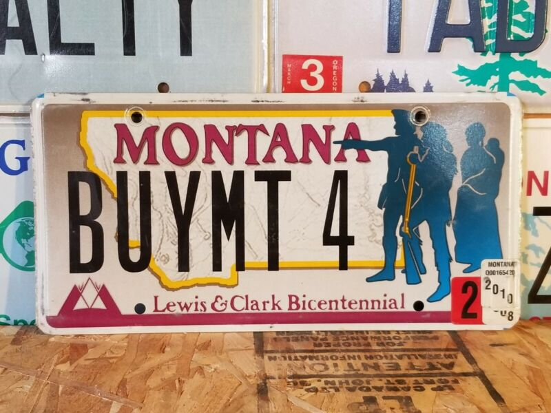 2010 Montana specialty vanity license plate BUYMT 4, Lewis and Clark, realtor