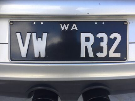 Number plates.