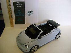 RARE SHARPER IMAGE VW BEETLE GT805 AM/FM RADIO ALARM CLOCK w/IPOD DOCK / LIGHTS