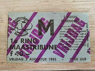 Ticket Feyenoord - Aberdeen / Antwerp FC - Real Madrid 1988 Rotterdam