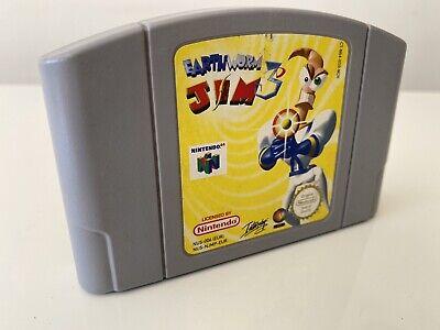Earthworm Jim 3D - N64 Nintendo 64 - GameCartridge - PAL CLEANED AND TESTED