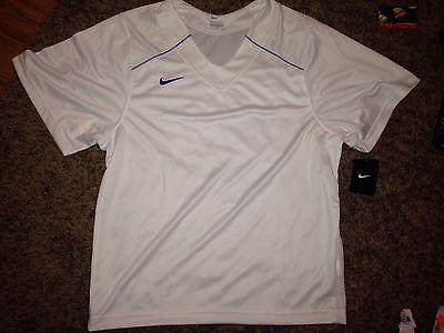 e65d023ac NWT Nike Mens White Blue Lacrosse Jersey  M