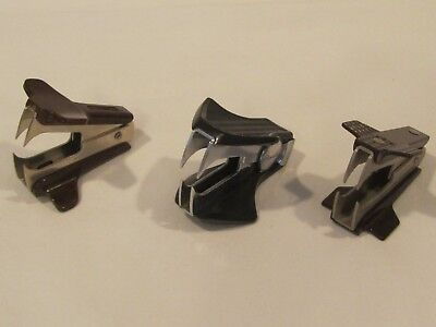 Lot Of 3 Vintage Staple Removers - Stanley Bostitch Swingline