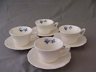 "4 Rare Vintage ""Blue Onion"" Design Coffee/Tea Cups & Saucers on Rummage"
