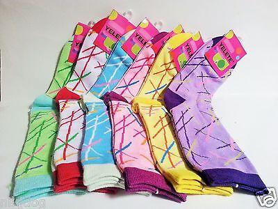 Girls Womens Pixie Stix Fashion Socks Size 9-11 Yelete