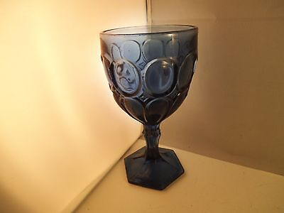 Vintage Cobalt Blue Excelsior EAPG Viking Glass Water Goblet