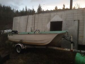 12' fishing boat, motor and trailer