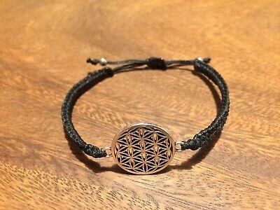 *Makramee Armband Blume des Lebens Lebensblume Buddha Yoga Mandala Spirit