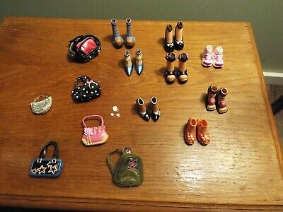 8 Pairs of Shoes and 6 Purses for Barbie