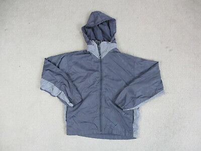 VINTAGE Nike Jacket Adult Medium Gray Swoosh Windbreaker Mens 90s A0*
