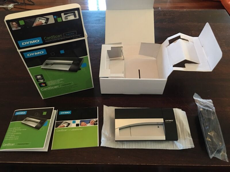 Dymo cardscan executive version 9 business card reader other 1 of 5 reheart Images