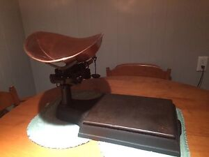 Antique general store weight scale