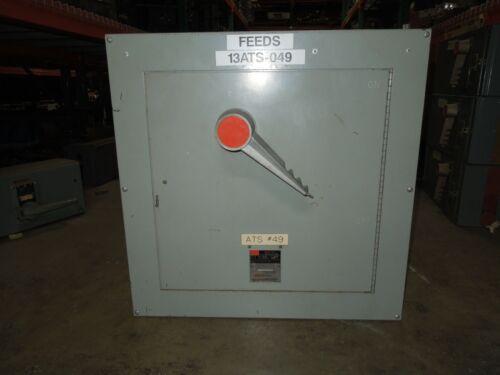 Fpe Qmqb8036lv 800a 3p 600v Single Fusible Switch Unit Used