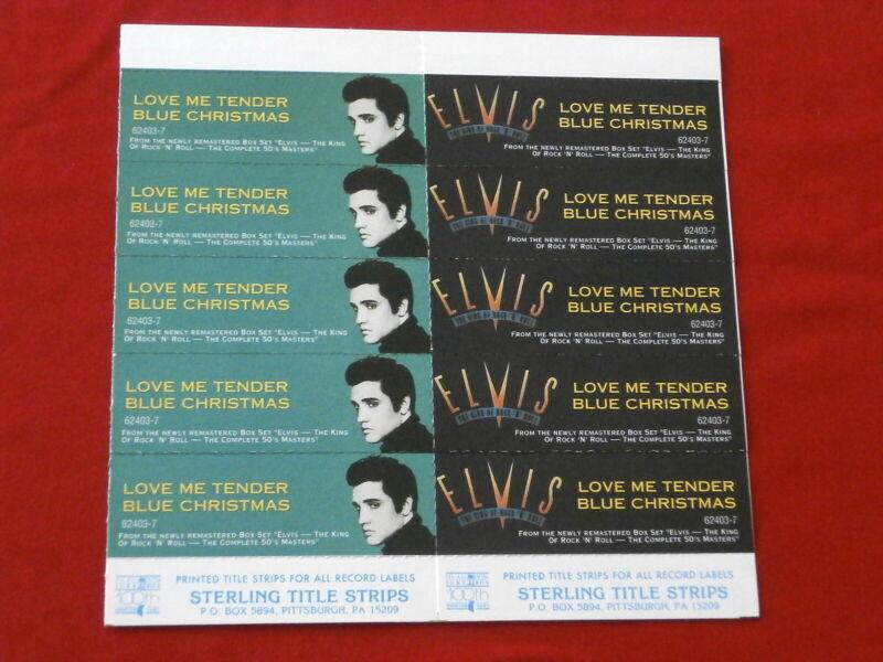ELVIS  PRESLEY~ BLUE CHRISTMAS~ LOVE ME TENDER~ RARE ~ JUKEBOX  TITLE STRIPS