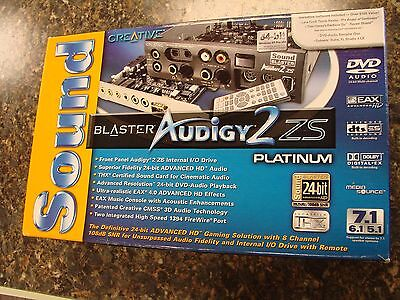 Creative Sound Blaster Audigy2 ZS Platinum PCI Sound Card 24-Bit SB1394 w/Box