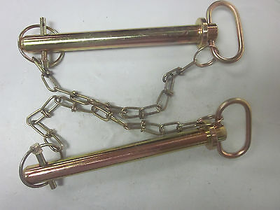 2 Tractor Trailer 34 X 7-38 Hitch Pin Chain Clip Lynch Receiver Tow Lock