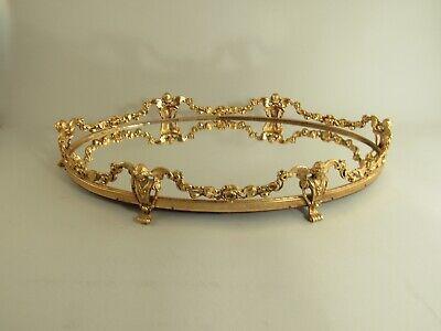Vintage Stylebuilt Goldtone Cherub Vanity Mirror Tray