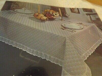 NEW SONATA EYELET TABLECLOTH 63Wx104