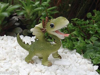Miniature Dollhouse FAIRY GARDEN ~ Mini Dragon Figurine ~ NEW