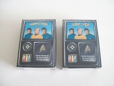 STAR TREK, ORIGINAL SERIES, STARTER DECKS X 2, CCG CARDS, UNOPENED , RARE.