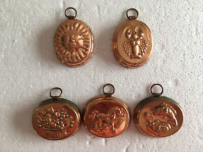Lot Of 5 Vintage Jello Ice Molds Or Wall Hangers