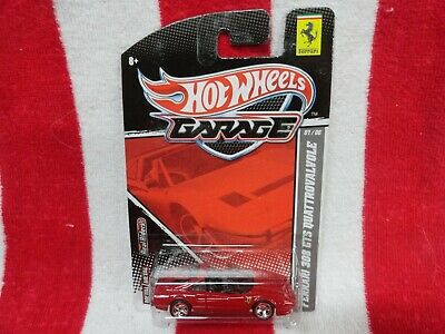 HOT WHEELS GARAGE RED FERRARI 308 GTS QUATTROVALVOLE REAL RIDERS 2010 RELEASE NU