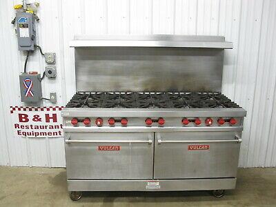 Vulcan Vg60 Heavy Duty Ten 10 Burner Nat Gas Range Stove W Double Oven